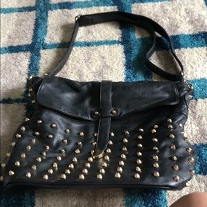 Forever 21 black studded bag